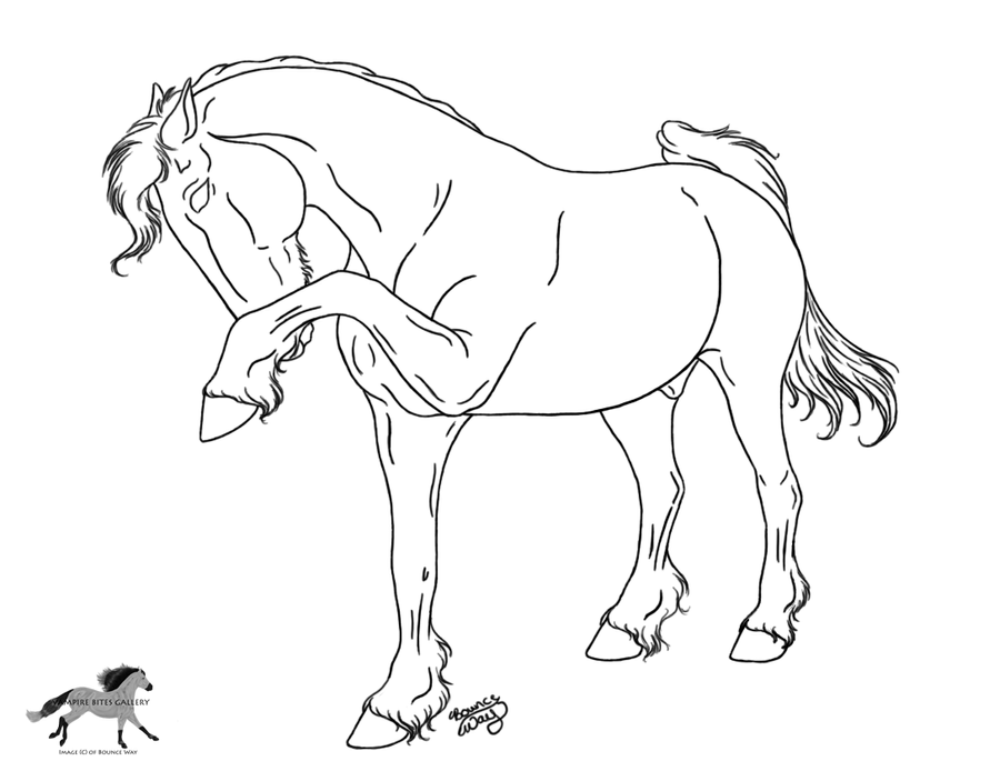 friesian horse rearing coloring pages