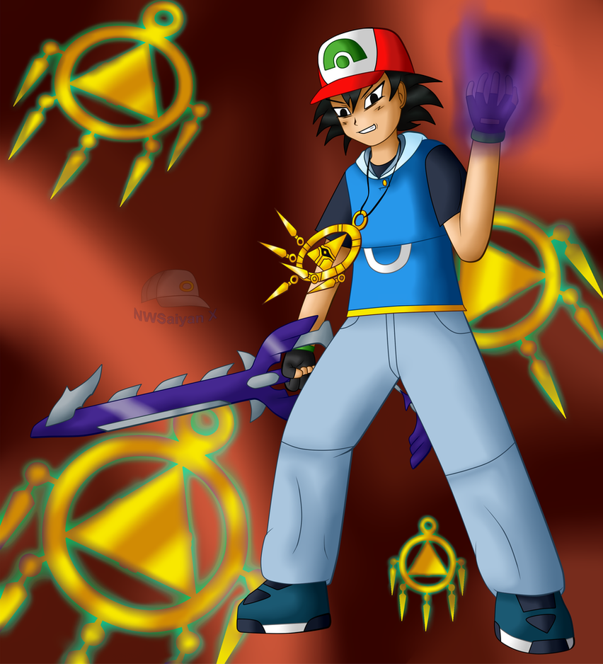 Evil King: Bakura!Ash by NWSaiyanX
