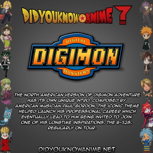 Did you know anime: digimon by pikafang