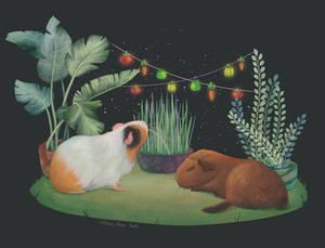 Guinea pigs illustration