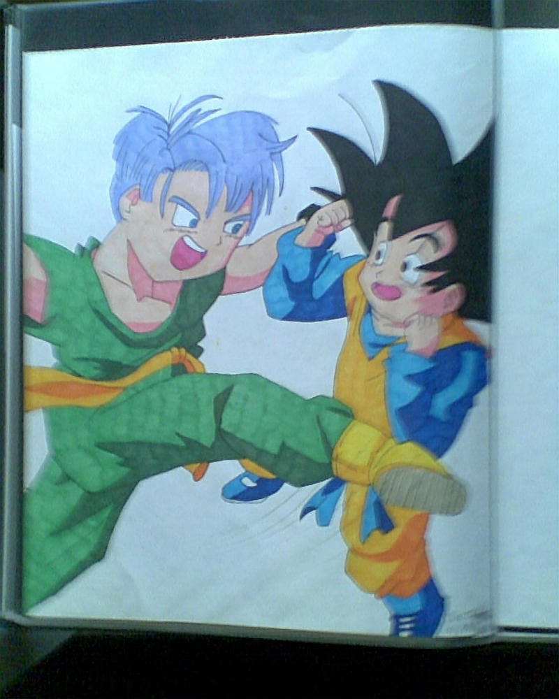 Trunks and Goten by ShirakikuRamune
