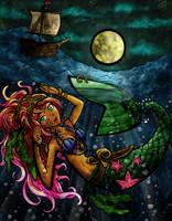 Mermaid Skribble by Song-Stone