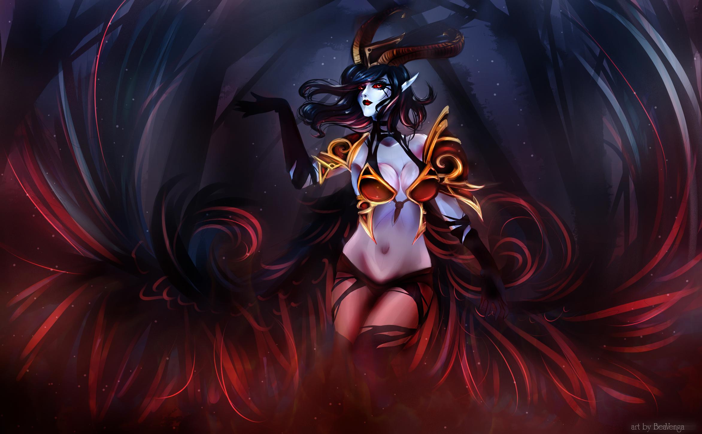 queen of pain dota 2 by beavenga on deviantart