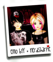 Me and my Emo BFF by nerdsharpie