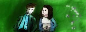 Bella and Edward by nerdsharpie