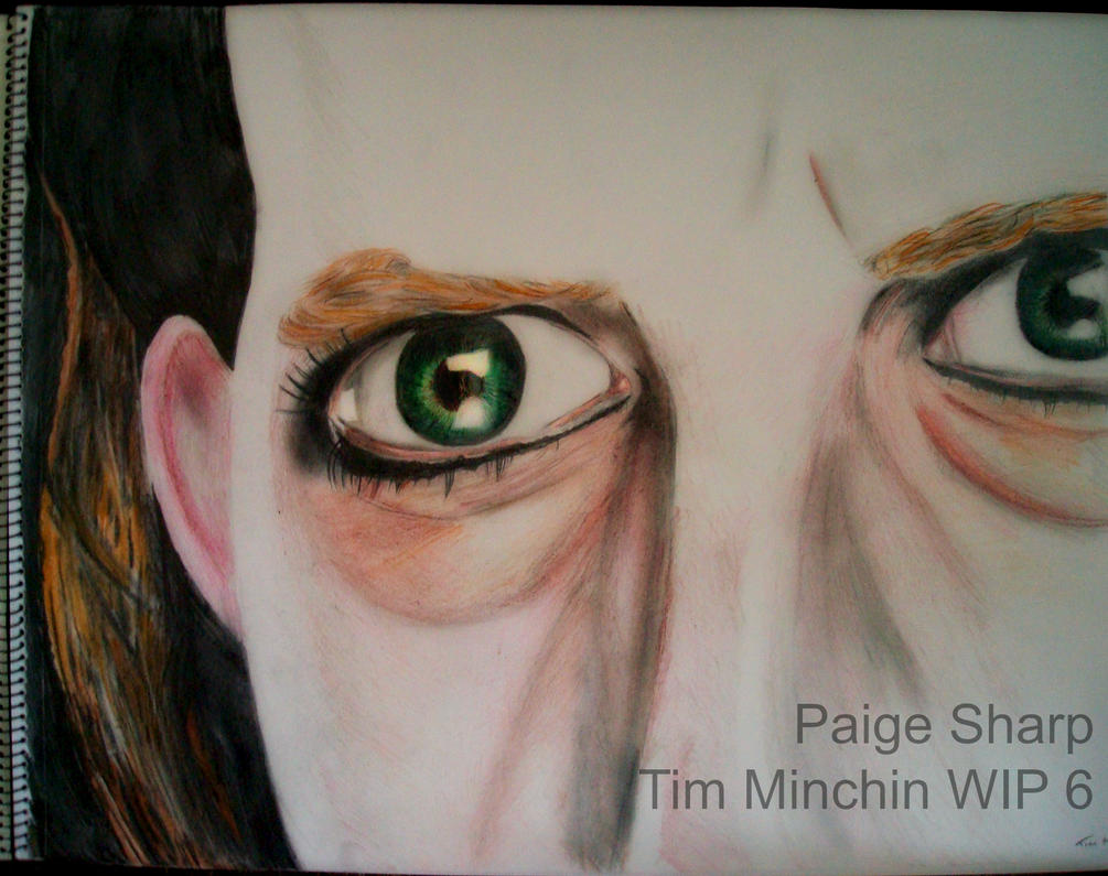 Tim Minchin's Eyes WIP 6 by nerdsharpie
