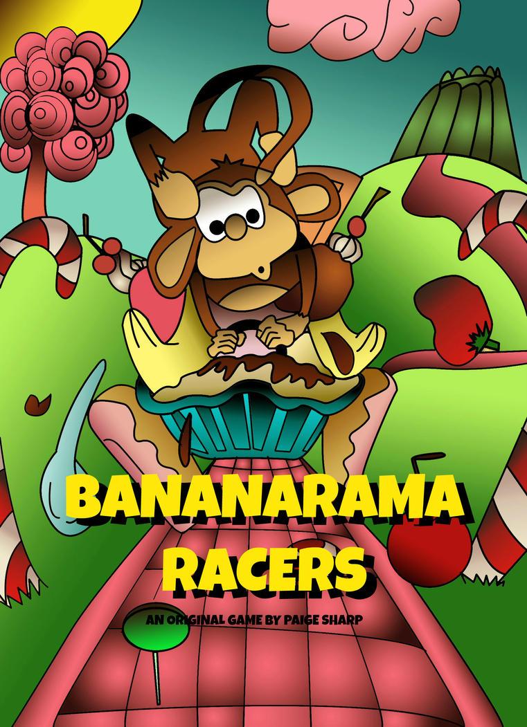 Bananarama Racers Box Art concept (Digital) by nerdsharpie