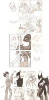 Hellboy and Batman doodles
