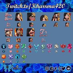 [Commission] Kharrma420's Emotes and Badges