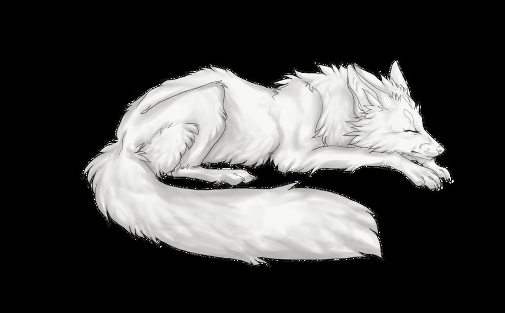Free Fox greyscale by VanillaMeteor