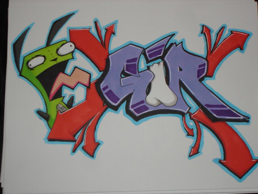 Gir graffiti style by k13pt0