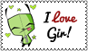 I Love Gir Stamp by cutielou