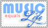 Music Equals Life Stamp by cutielou