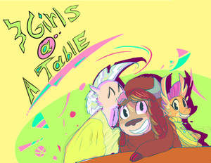 [Fanfic Cover] 3Girls@ATable