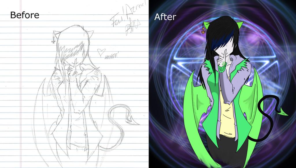 Before/After Fem!Azreal by RadiantNightmare6661