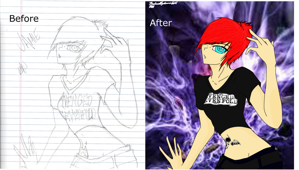 Before/After Jamie by RadiantNightmare6661