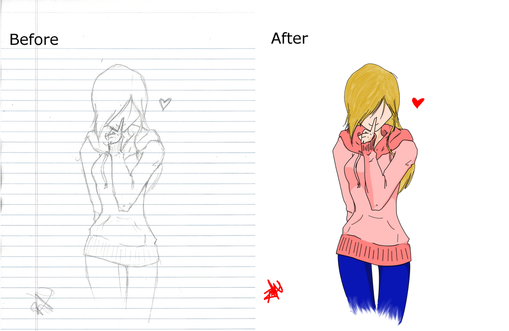 Before/After Girl by RadiantNightmare6661