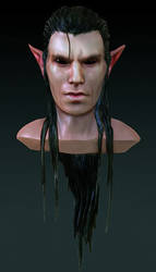 Dark elf male head
