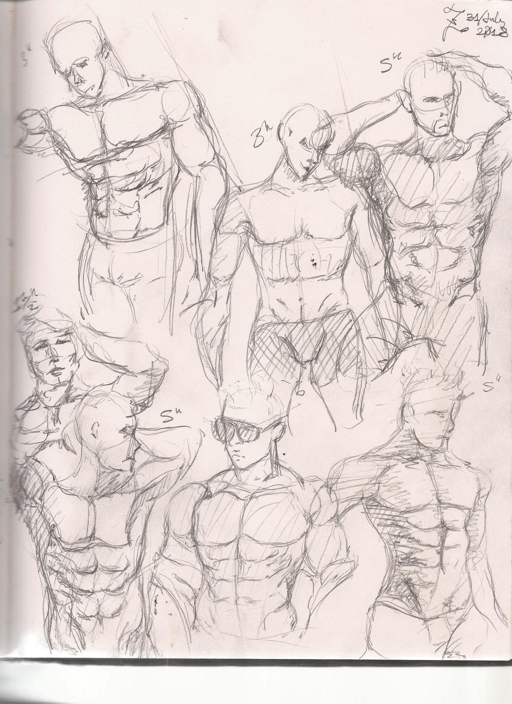 Muscle Study Sketches-2