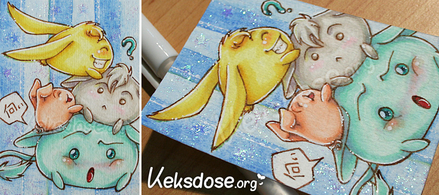 ACEO O33 - GroupCuddle by yumkeks