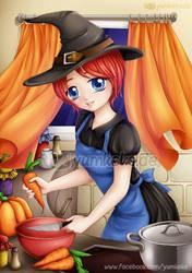 Commission - Kitchen Witch for Katja by yumkeks