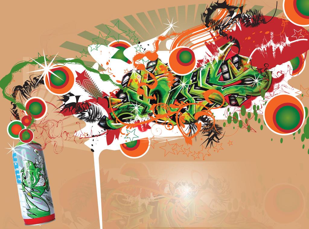 abstract graffiti by ZaHawK
