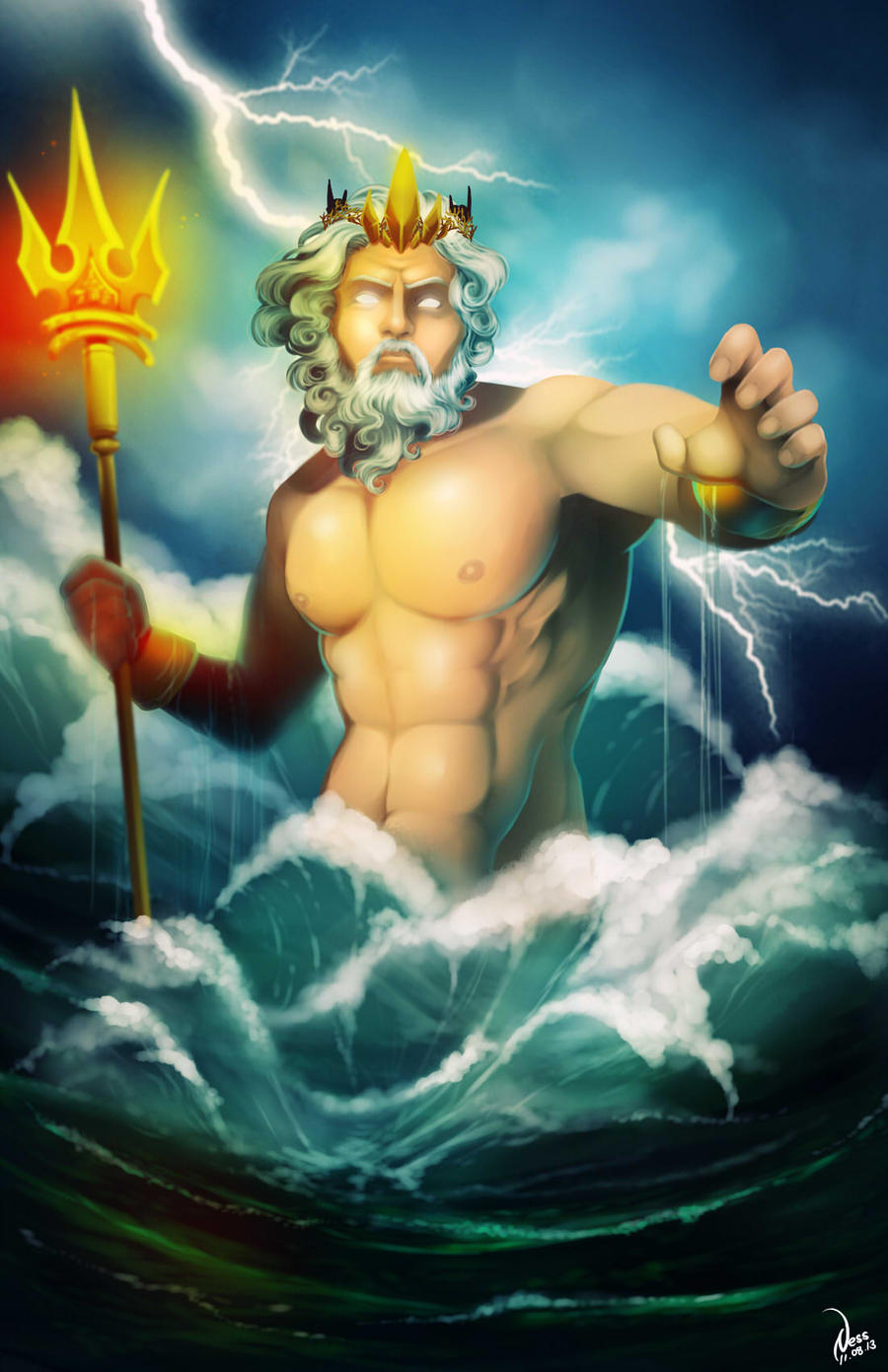 Commission: Poseidon by Ernz1318
