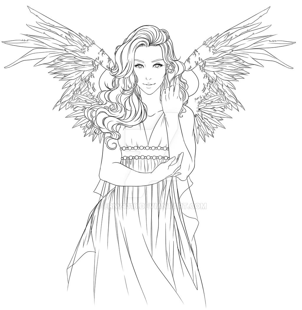 Line Art God Images : Commission goddess lineart by ernz on deviantart