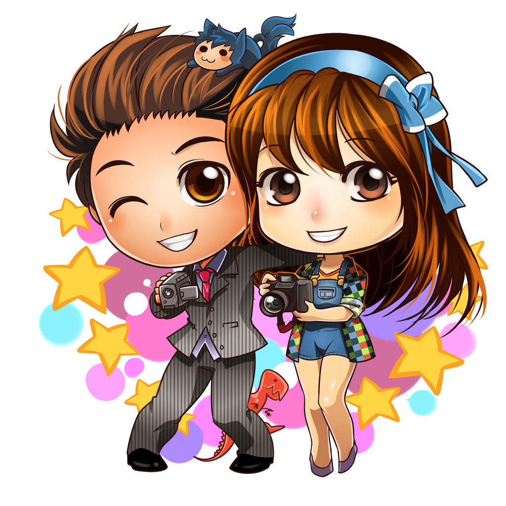 Commission Chibi Couple 2 By Ernz1318 On Deviantart