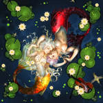 Commission: Pisces, Lilies and Violin