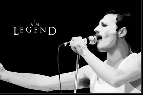 Freddie Mercury Vexel by josdavi94