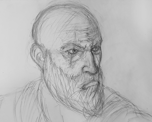 Dad of Boy - Kratos Sketch by josdavi94