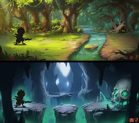 2D platform game Environment concept