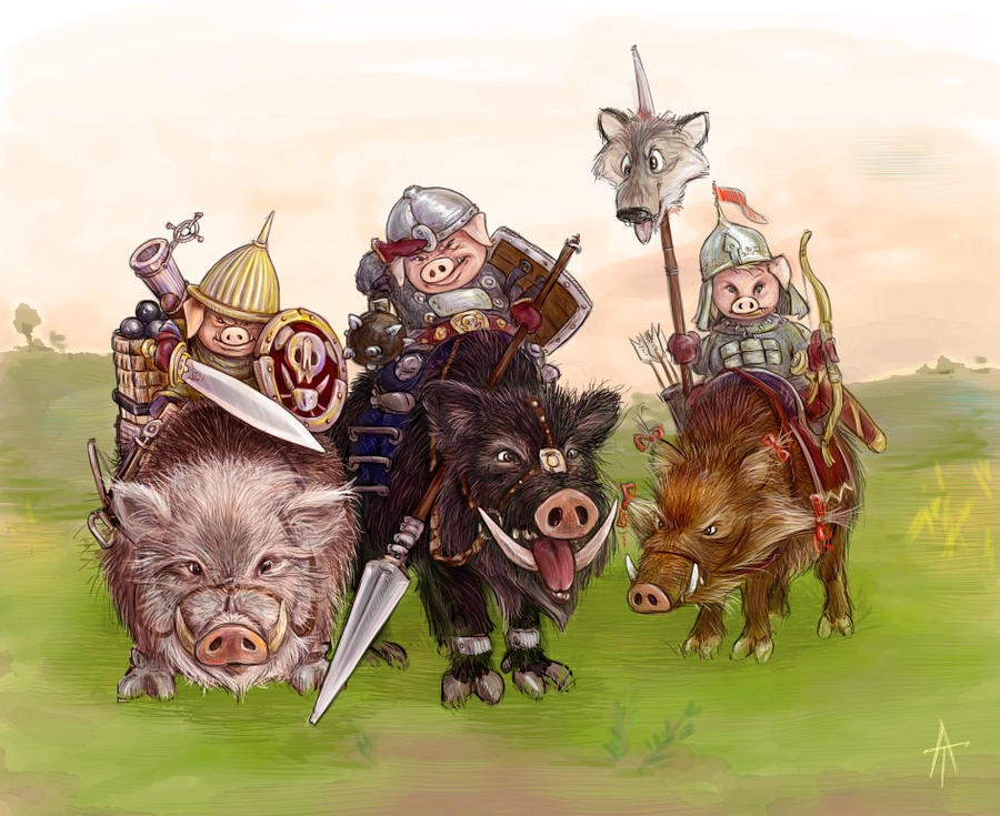 three piglets by napluvayka