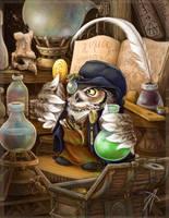 owl alchemist by napluvayka