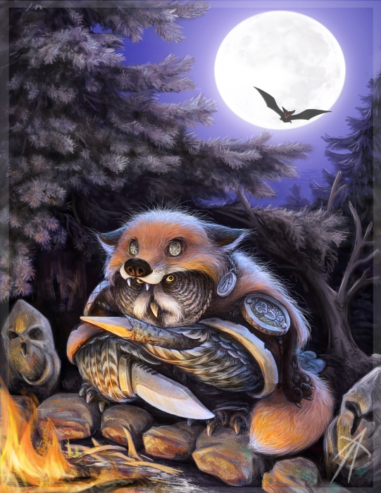 owl warlock by napluvayka