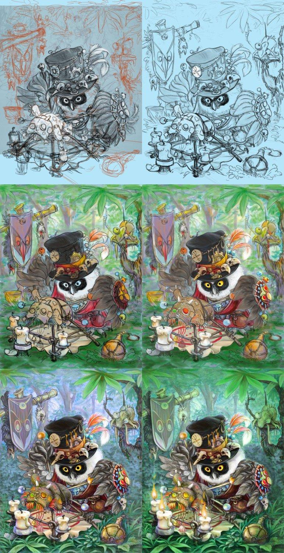 Owl Voodoo (phase) by napluvayka