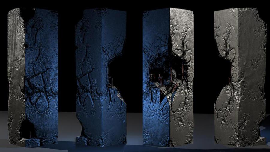 how to create desroyed pillar