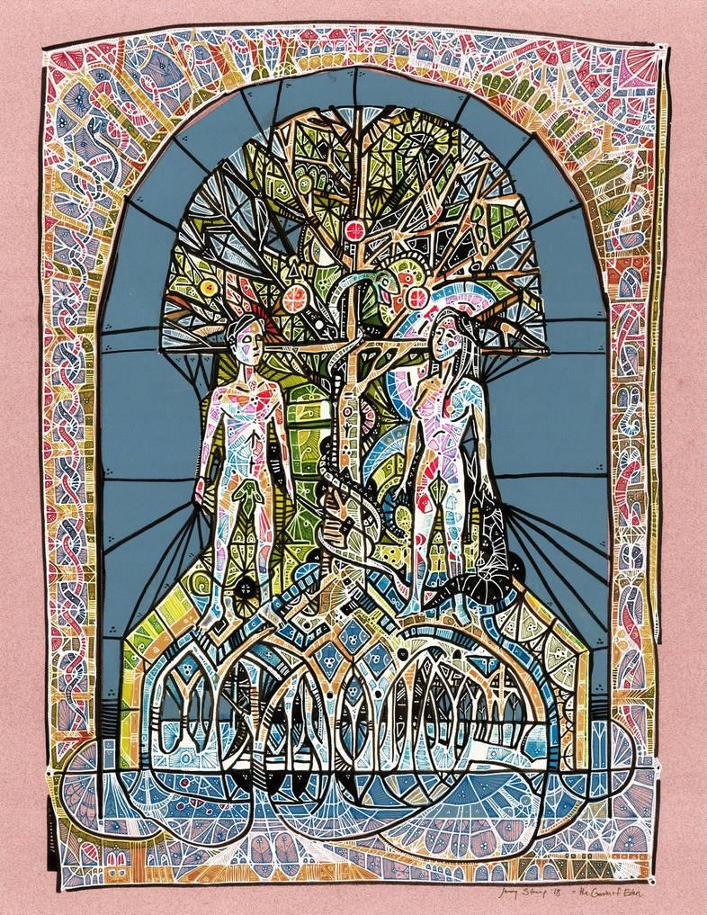 The Garden of Eden by matthias-corvidae