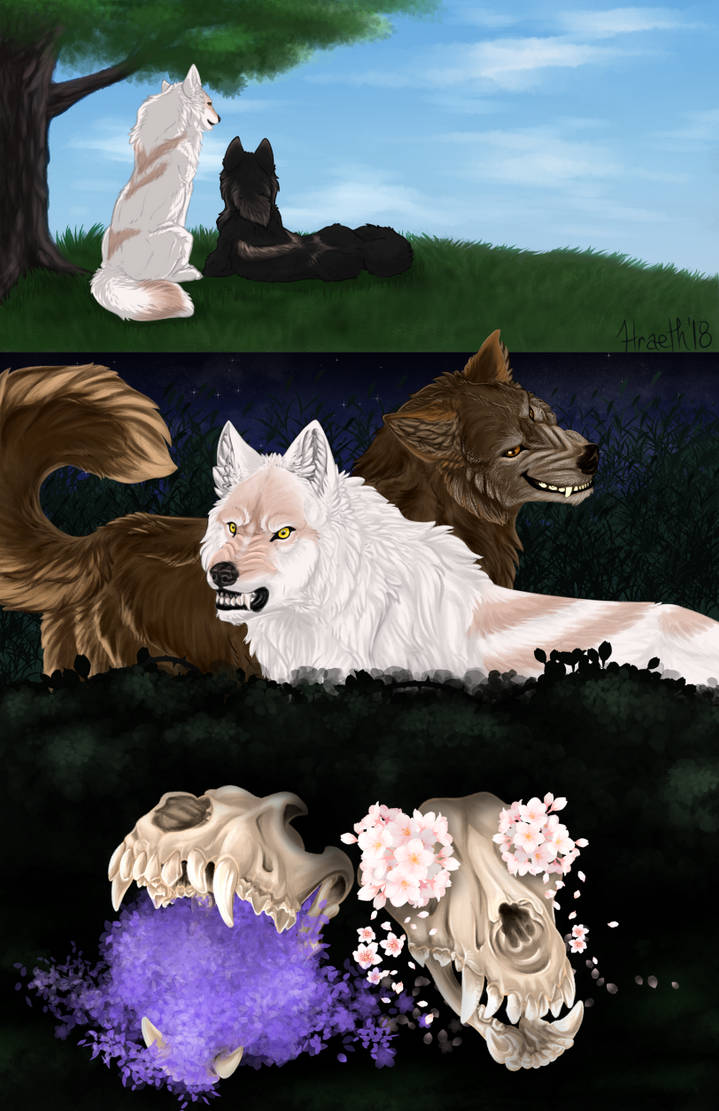 A Tale of Two Wolves by Hraeth