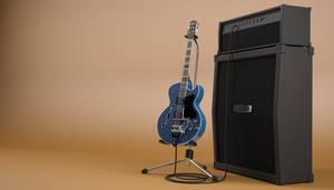 Guitar model and render by bewsii