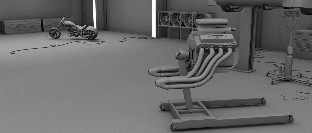 Garage: 3d Modeling Studio project - FINAL 1 by bewsii on DeviantArt