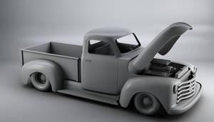 52 Chevy truck 3d model AO
