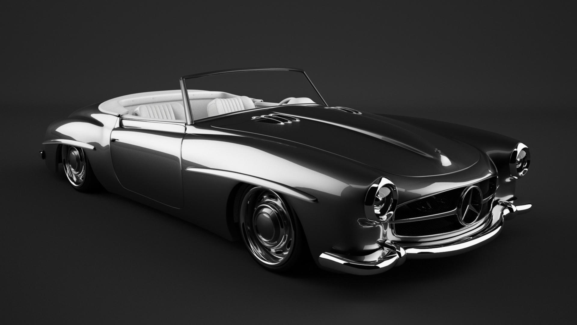 1961 mercedes 190sl custom by bewsii on deviantart for Mercedes benz custom