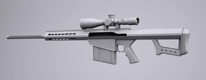 Barrett .50 Cal sniper rifle by bewsii