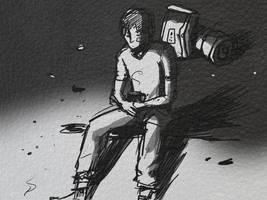 bonfire sketch by U00