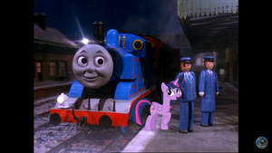 Thomas and Twilight Sparkle Working The Mail Train
