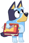 Bluey Holding a Book Vector