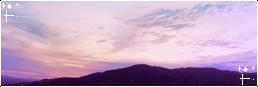 Mountain Sunset II f2u divider by aisuu-chann