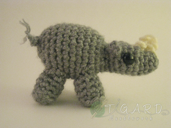 Tiny Rhino by tigardneedlework